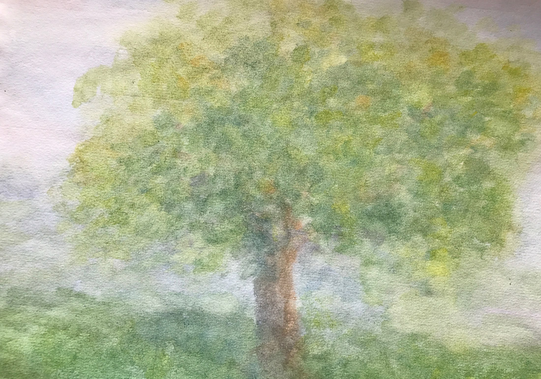 Baum in Aquarelltechnik