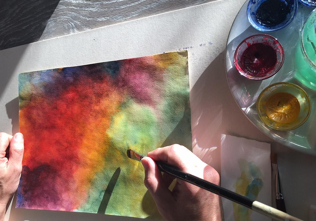 Kunst Therapie Atelier | Aquarellbild Nass in Nass | A. Tanja Stögermair