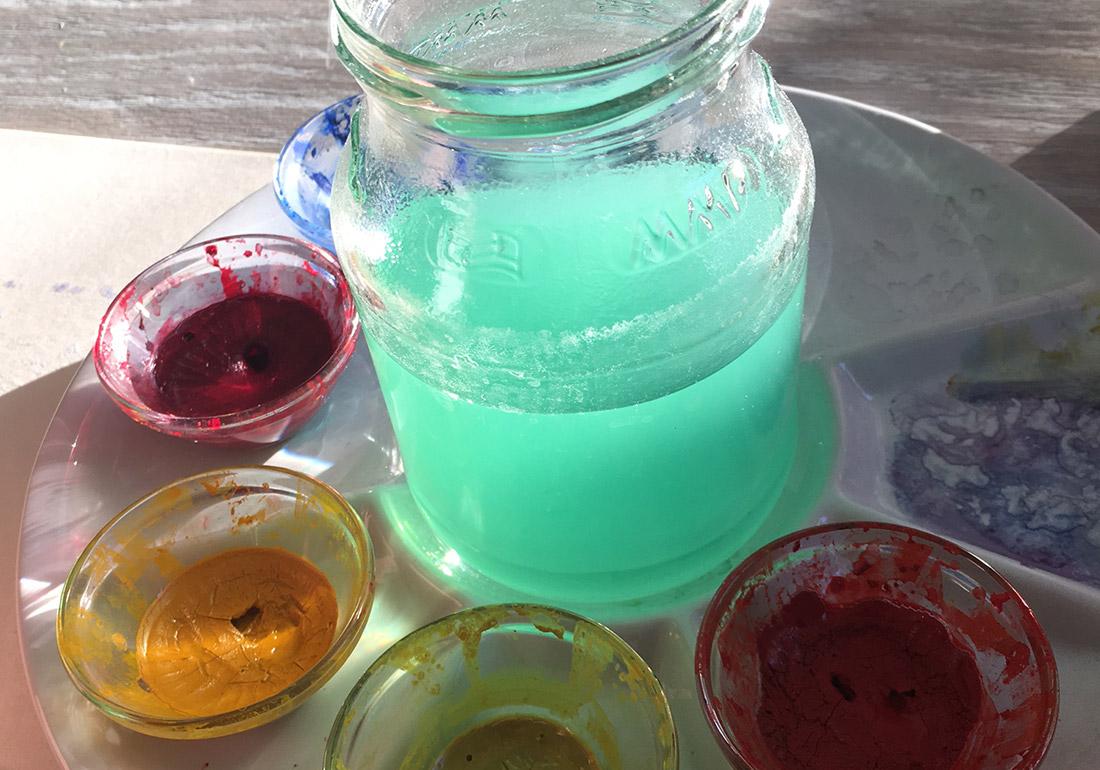 Aquarellfarben zum mischen