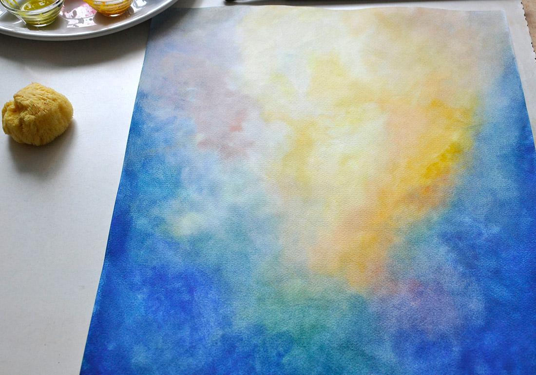 """Stimmungsbild in Aquarell """"Licht"""""""