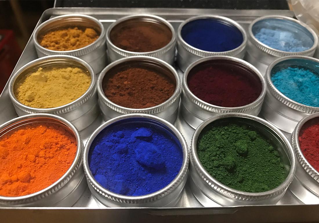 verschiedene Pigmente