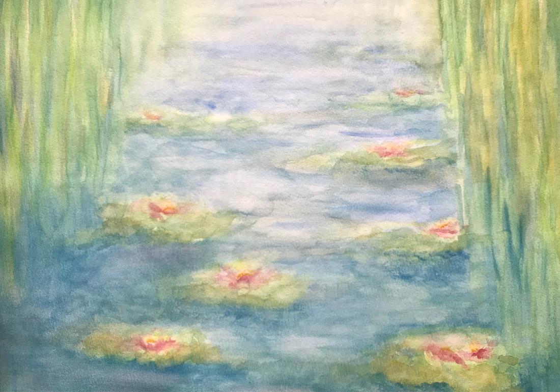 Seerosen nach Monet