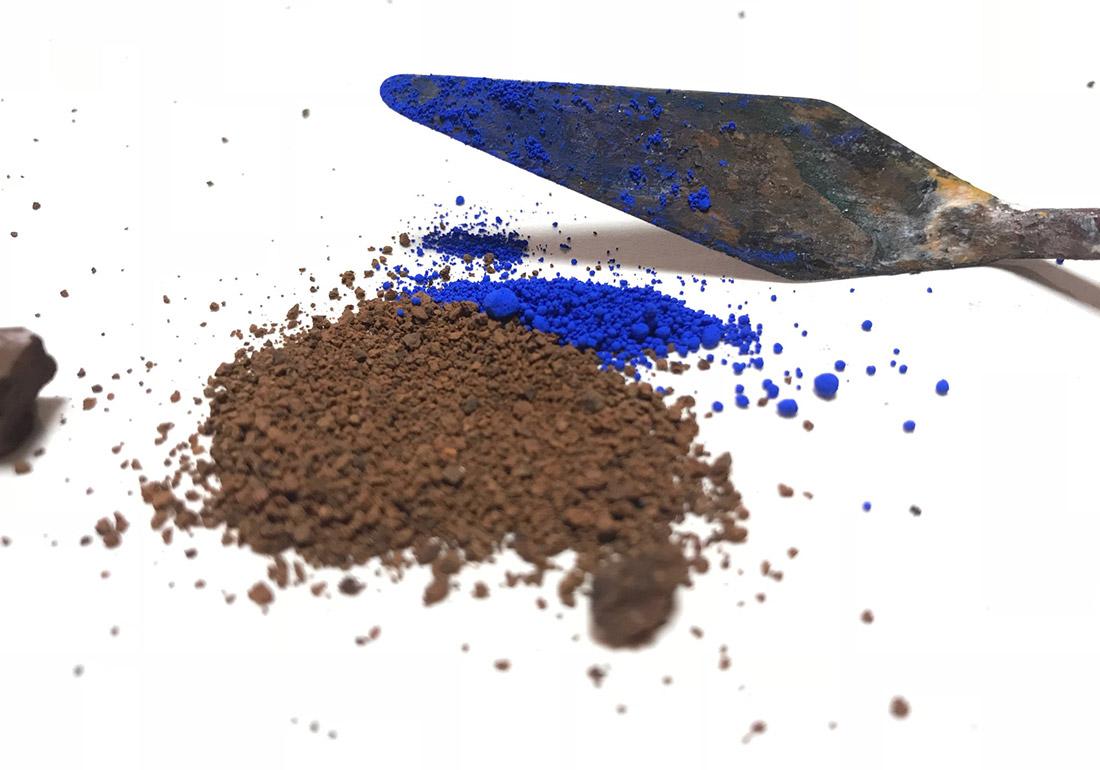 Erde und Pigment