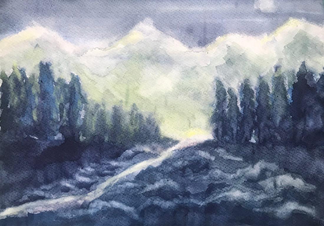 Nachts in den Bergen